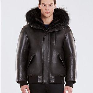 Rudsak Crawley Leather Down Bomber Jacket